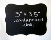 CHALK LABELS Deco Vinyl Chalkboard Labels Self Adhesive  - SET OF 6 -  Make your own mini chalkboards