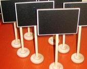 4 Original Mini Chalkboard Table Stands  --- Place Settings, Food Marker, Wedding Chalkboards, Buffet Labels