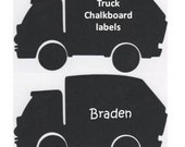 Truck Chalkboard Labels - Organize and Personalize with Chalk Labels