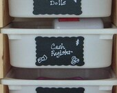 Scallop Rectangle Chalkboard Labels- 12