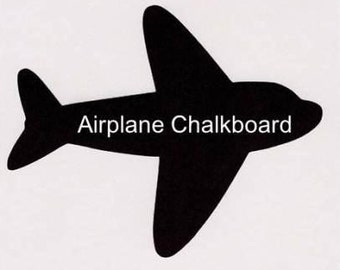 Airplane Chalkboard Decal - 1 Large and 3 Small