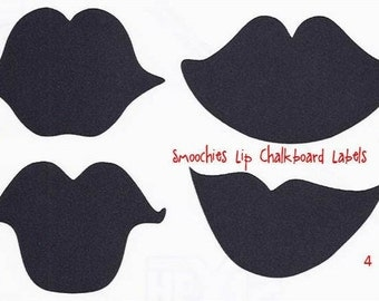 Lips Chalkboard Labels 4 designs to choose from - Vinyl Decals - 12 - Lips Drink Labels, Bachelorette Party, Wine Glass Stickers