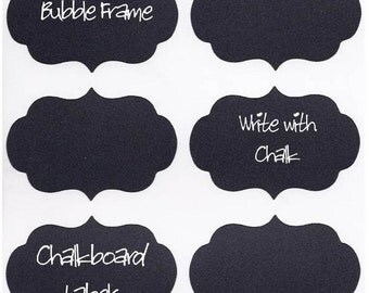 "Chalkboard Labels ""Teenie"" Bubble Frame Vinyl Chalk Labels(tm)  - 12 - 2 x 1.5 inch"