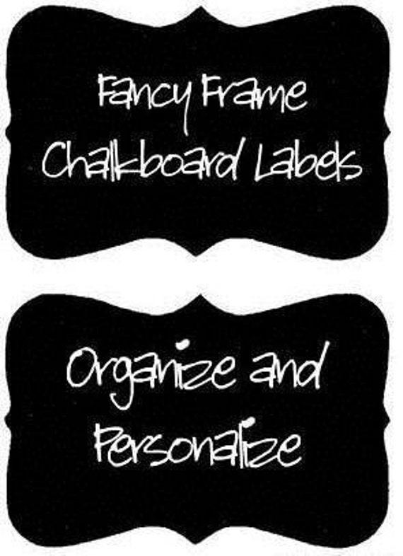 Fancy Frame Vinyl Chalkboard Labels  - 12 - 3 inch