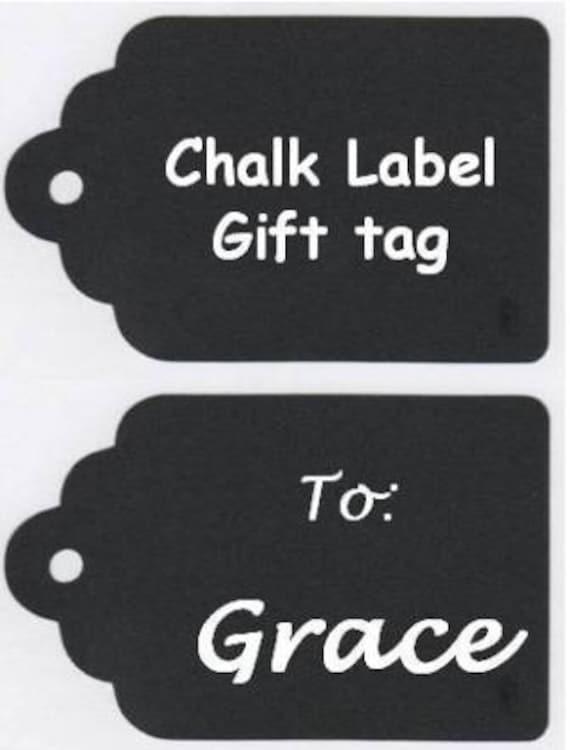 Chalkboard Labels, Chalkboard Gift Tags Vinyl Chalkboard Labels Self Adhesive - Set of 12 - 3.5 inch