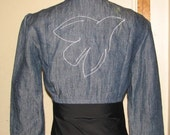 SALE - Peace Dove Bamboo Cropped Jacket - size small