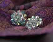 Vintage Laguna Earrings 1950s Austrian Crystal Clips