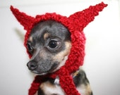 Dog Hat - Fox Dog Hat - Dog Costume - Pet Hat - Pet hood - Halloween