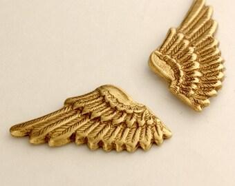 Wing Cuff Links SOLDERED - Cuff Wings - Golden Brass Winged Cufflinks - The Flight Series Cufflink - SOLDERED Bird Watchers Dream Cuff Link