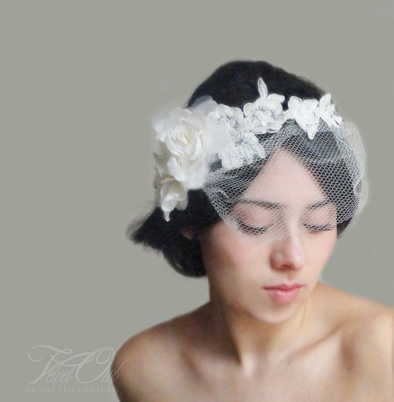 Veils And Headpieces: Hair Vine Vine Veil Bridal Veil Lace Veil Lace Headpiece