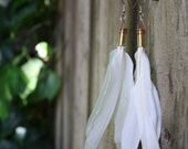 the priestess - bullet and dove earrings