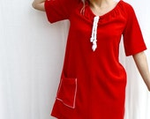 cherry pie - vintage cherry red beach dress