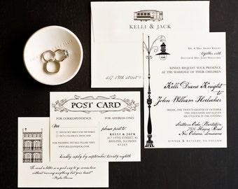 Wedding Invitation, New Orleans Love Letter Wedding Collection, New Orleans Destination Wedding Theme