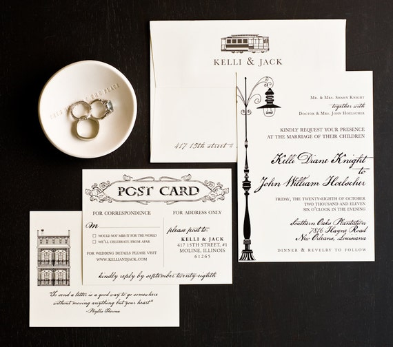 Wedding Invitation New Orleans Love Letter Wedding