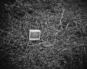 Surreal Urban Decay Genuine Lomography Print - 8x8 - Black and White, lomo, TV, computer, photo, retro, technology