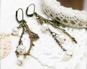 Mermaid's fantasy earrings, freshwater pearls