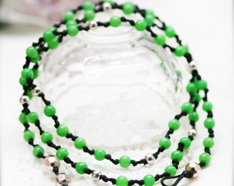 Boho double wrap anklet - men and women anklet