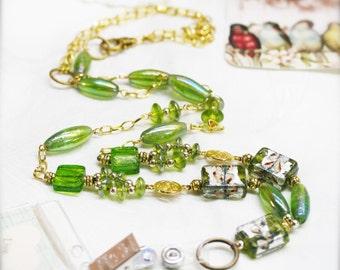 """Emerald lady lanyard badge holder - 31"""""""