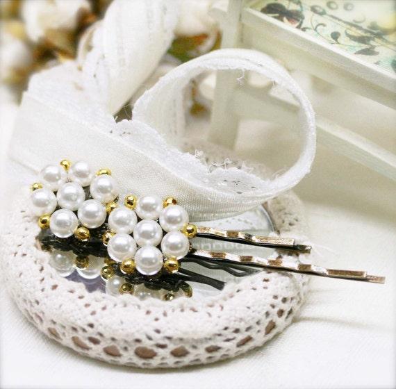 Pearly bobby pins