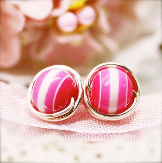 Sophine ear studs (Buy 2 get 1 free) -Bandung syrup - 8mm