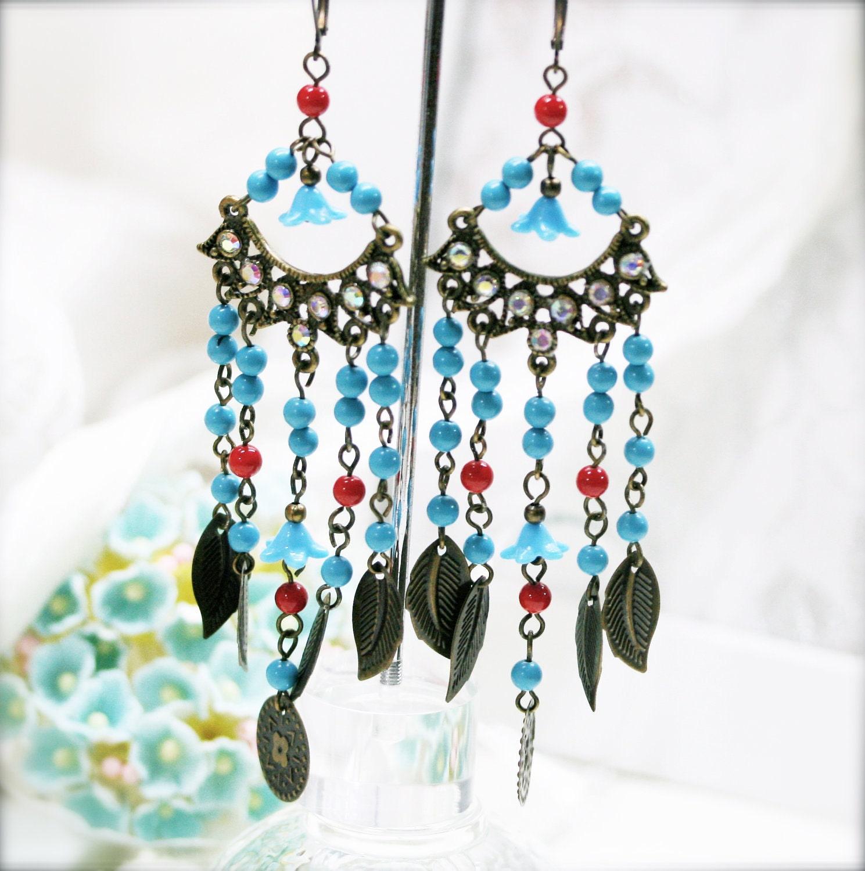 bohemian chime chandelier earrings