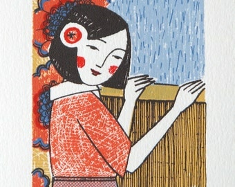 Japanese Rain - Original screen print