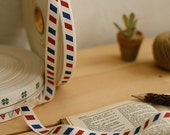 Air Mail Fabric  Label String - 1 yard