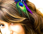 STORE CLOSING SALE - Peacock Feather Fascinator