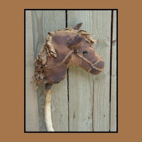 Primitive Folk Art Stick Horse PDF epattern in 2 sizes