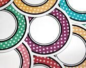 Retro Polka-Dot  Circle Journal Cards