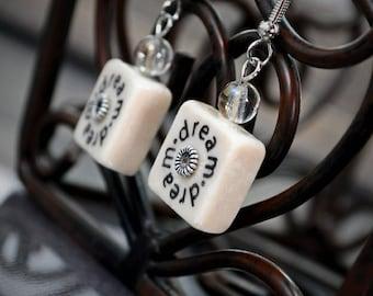 Dream Stone Tile Earrings