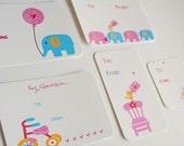 Printable Valentine Bird Elephant Series