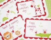 Printable Valentines Day Animal Series