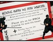 Hi Ya Ninja Party Printable Invitation