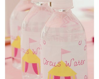 Printable Circus Party - Carnival Party  Water Bottle Labels