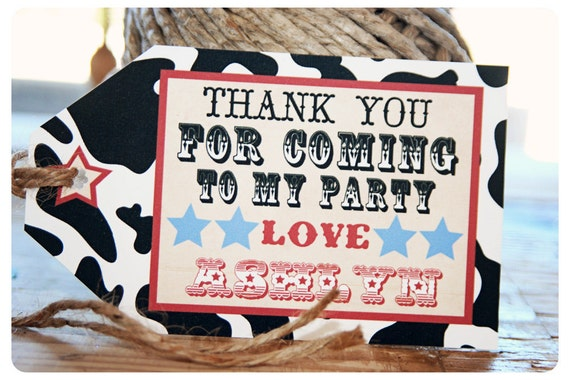 Ada Custom Listing For Printable Rootin Tootin Western Favor Tags