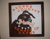 Cleveland Browns Country Dawg wood picture