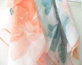 Abstract Watercolor Vera Silk Scarf