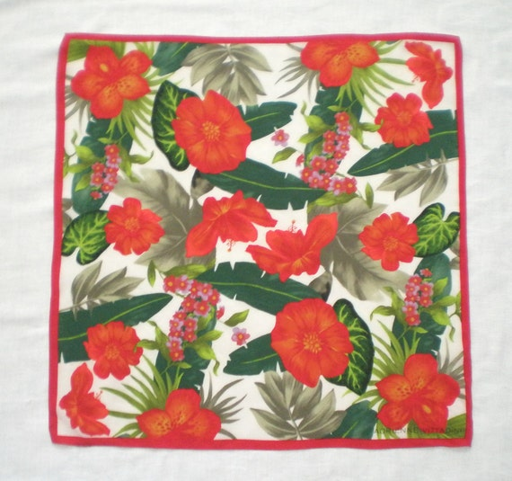 Reserved for C Scarf Tropical Flowers by Adrienne Vittadini