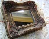 Ornate Antique Small Mirror