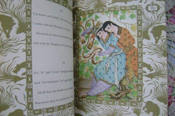 Rubaiyat of Omar Khayyam 1947 Valentines Day Romantic