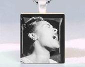 Billie Holiday Scrabble Tile Pendant