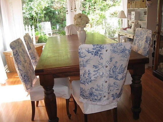 Items Similar To Blue And White Toile Dining Chair