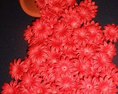 1 inch RED Eco-Friendly Mulberry Paper Flowers (Lot of 15)