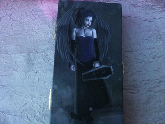 Gothic Angel Trinket/Stash/Jewelry Box