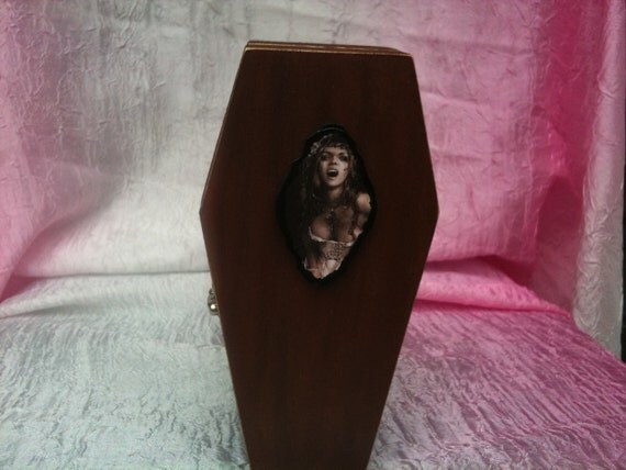 Goth Victorian Vampire Coffin - Trinket/Stash/Gift Box - Vampire on the Inside