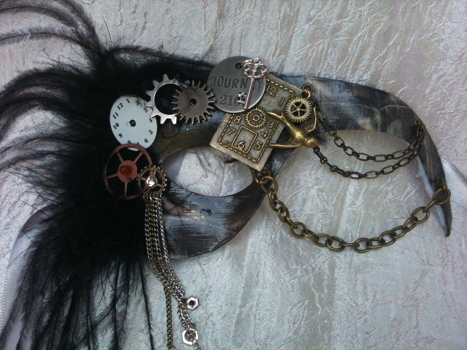 Reserved for Brionna Morse Steampunk Journey Masquerade Mask