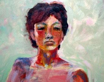 "Portrait of Summer, 24"" x 24"" Oil on Masonite"