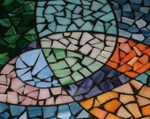 """Stained Glass Mosaic Table multicolor kitchen table """"All Mixed Up"""""""