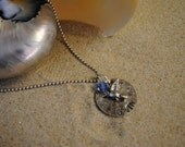 hand stamped name pendant mothers necklace